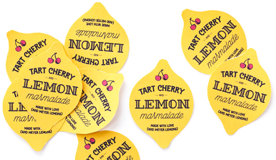 Free Printable Canning Labels: Tart Cherry & Meyer Lemon Marmalade