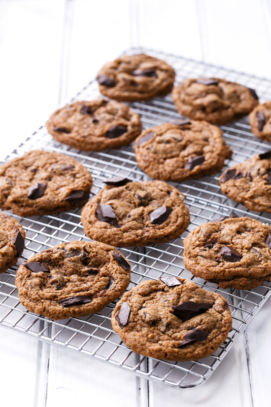 Next-Level Chocolate Chip Cookies with dark brown Muscovado sugar and whole wheat flour