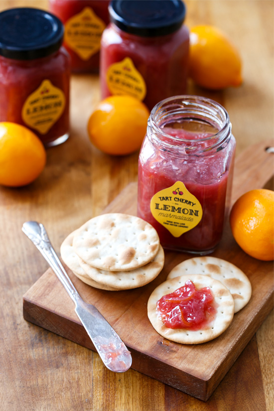 Tart Cherry & Meyer Lemon Marmalade (plus FREE printable Jar Labels