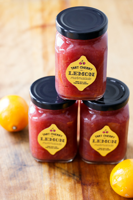 Tart Cherry & Meyer Lemon Marmalade (and FREE Printable Labels!)