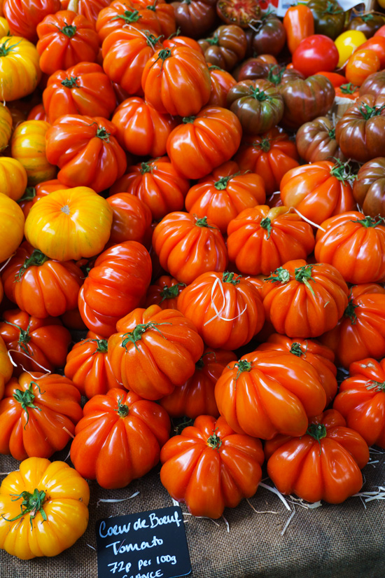 French Tomatoes in London's Borough Market