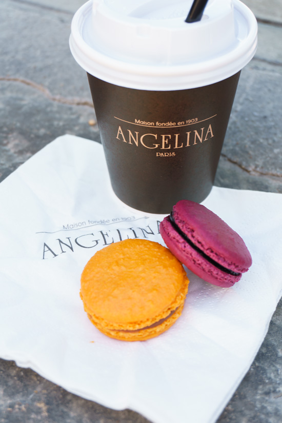 Hot Chocolate and Macarons from Angelina