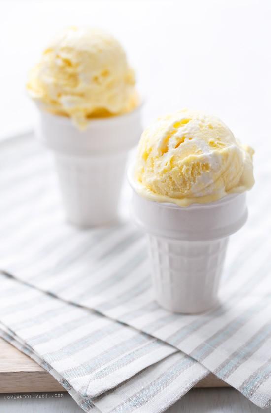 Lemon Meringue Ice Cream | Love and Olive Oil