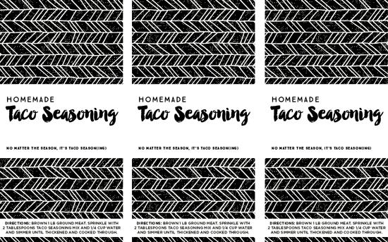 Homemade Taco Seasoning Printable Spice Jar Labels