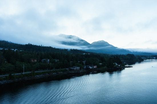 Sailing in to Ketchikan, Alaska aboard the Ruby Princess
