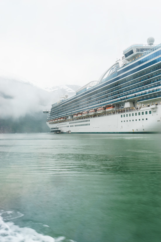 Ruby Princess in Tracy Arm Fjord, Alaska