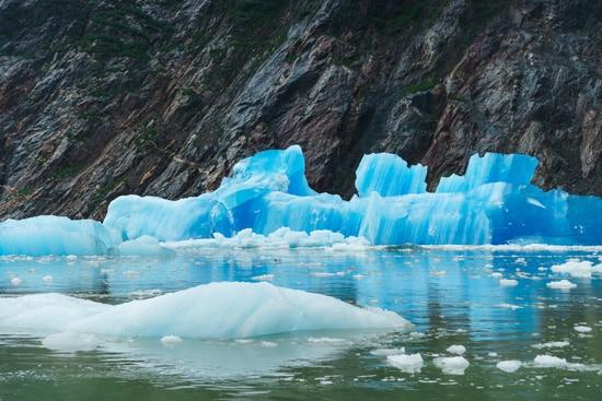 Crystal Blue Icebergs, Tracy Arm Fjord, Alaska