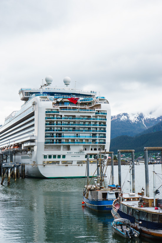Ruby Princess at port in Juneau, Alaska