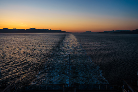 Alaskan Sunset aboard the Ruby Princess