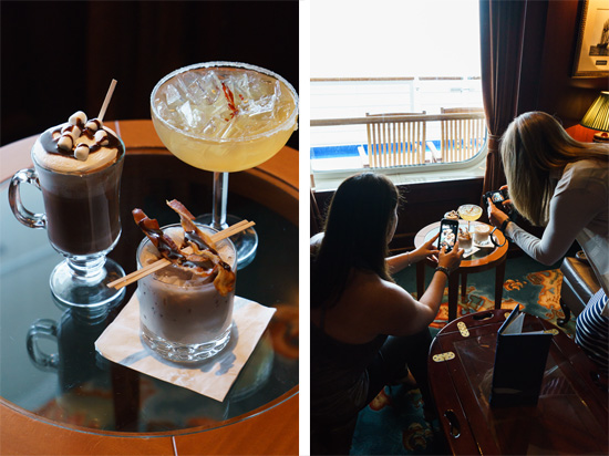 Chocolate Journeys cocktails aboard the Ruby Princess