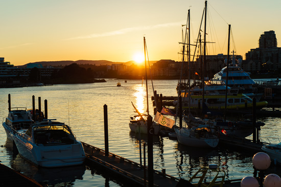 Sunset on the Harbor, Victoria, British Columbia