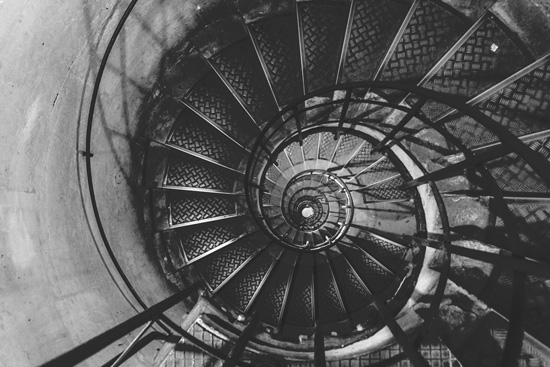 Spiral Staircase in the Arc de Triomphe
