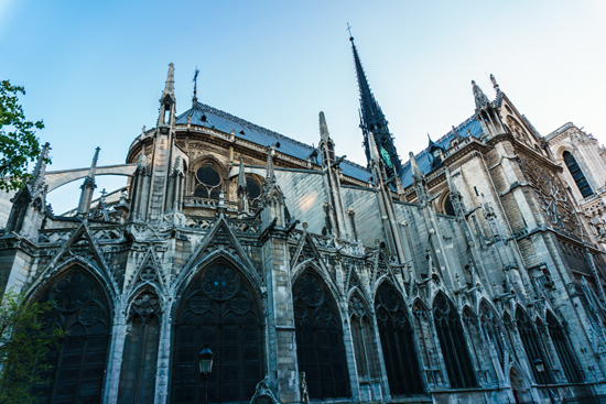 Back of Notre Dame cathedral, Paris, France