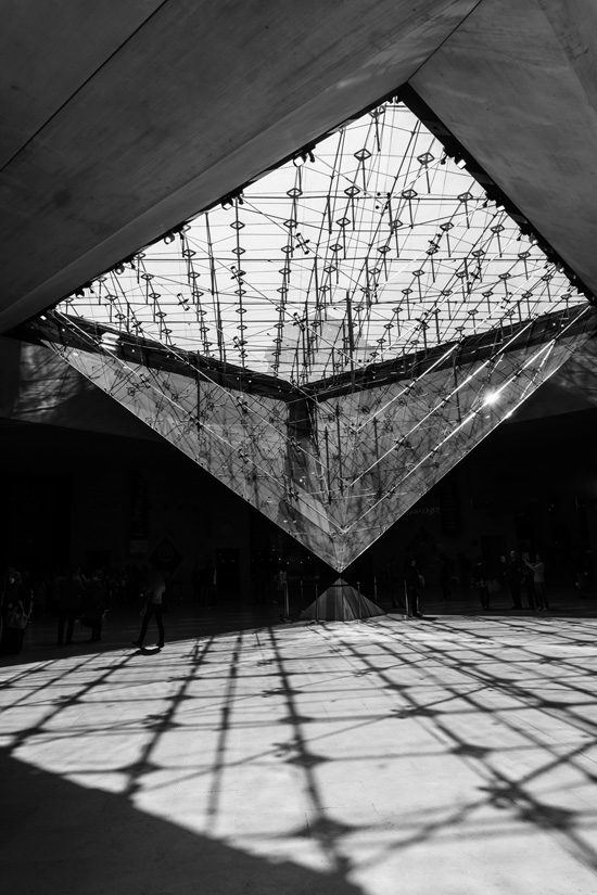 Invert Pyramid, Louvre Paris France