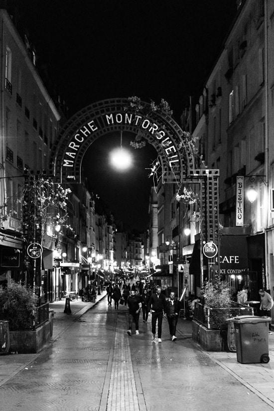Rue Montorgueil, Paris Francce