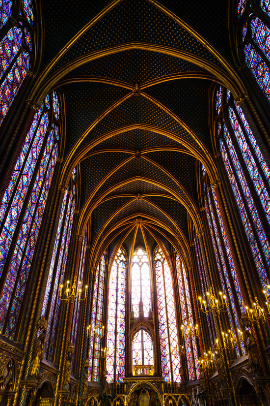 Sainte-Chapelle Cathedral, Paris France