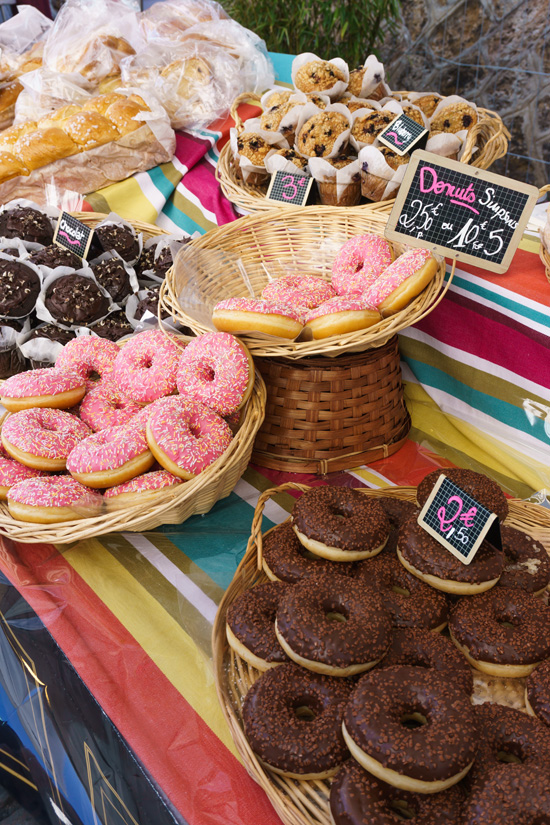 Paris Market Scene: Donuts