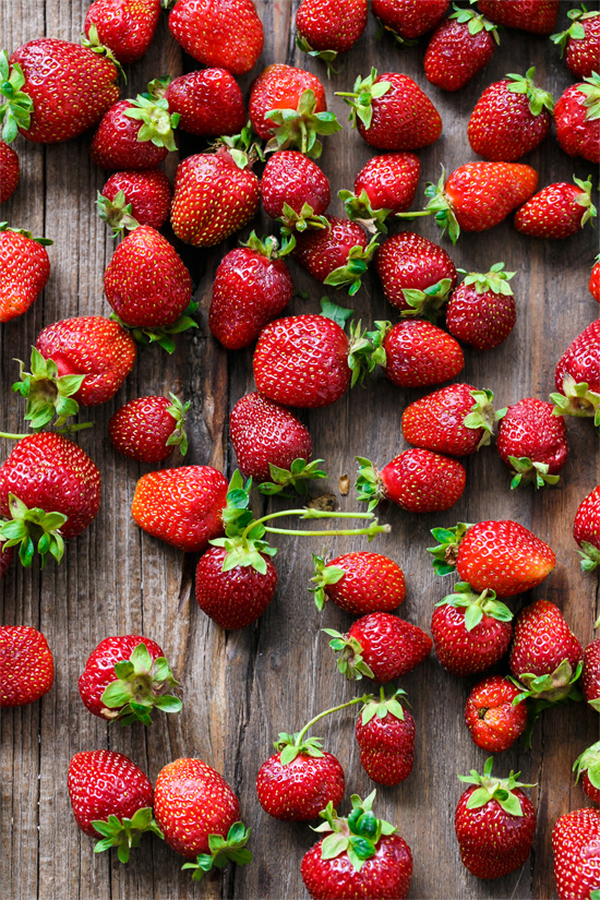 Fresh Picked Strawberries to be made into homemade strawberry jam