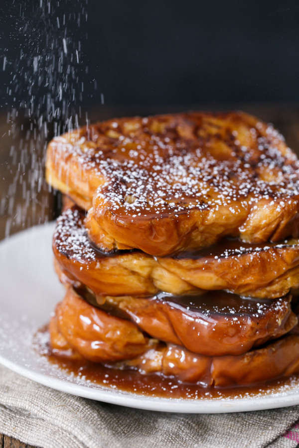 Boozy Salted Caramel French Toast Recipe plus The Secret to perfect French toast every time!