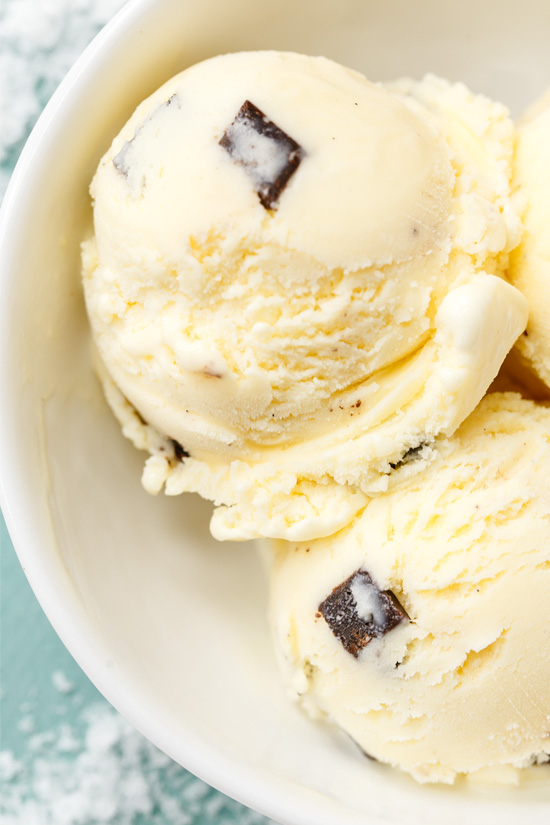 Vanilla Bean & Fudge Chunk Ice Cream with Sea Salt