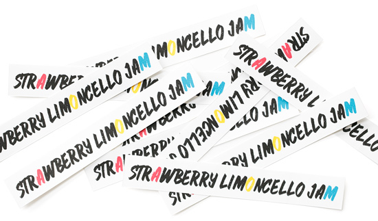 FREE Printable Canning Labels for Strawberry Limoncello Jam Recipe