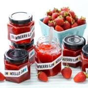 Strawberry Limoncello Jam (plus FREE printable labels!)