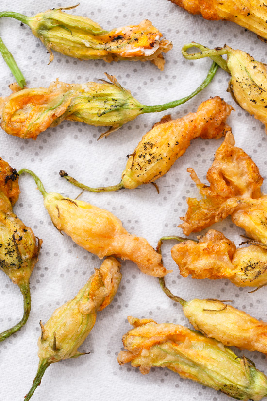 Crispy Fried Zucchini Blossoms Recipes — Dishmaps