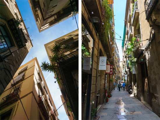Exploring the city of Barcelona, Spain