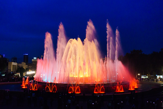 Magic Fountain (Font Màgica de Montjuïc), Barcelona Spain