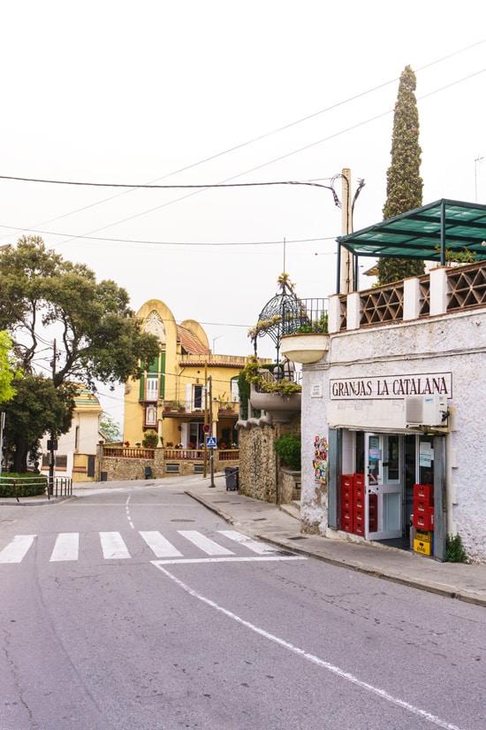 Town atop Tibidabo mountain, Barcelona Spain