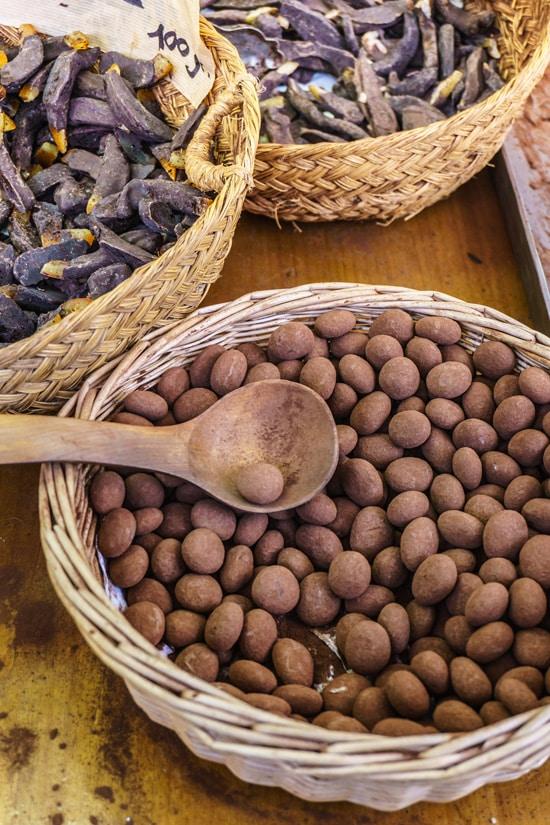Handrolled trufas (truffles) in Barcelona, Spain