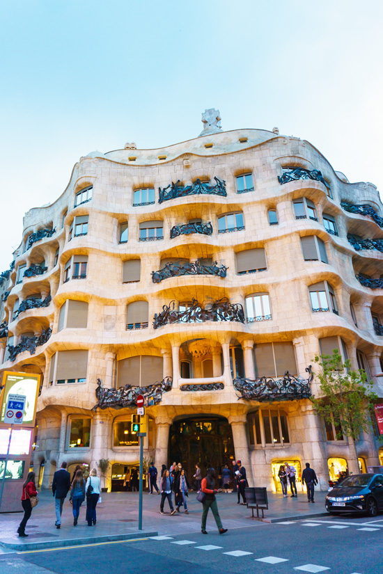 Casa Mila by Gaudi, Barcelona Spain