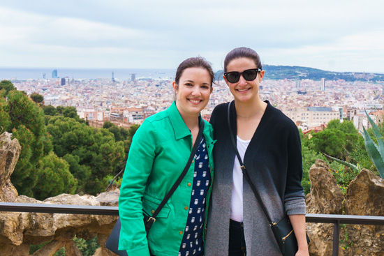 The view from Park Güell, Barcelona Spain