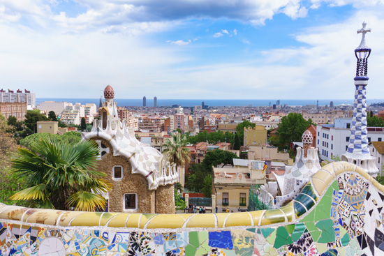 The view from Park Güell, Barcelona Spain
