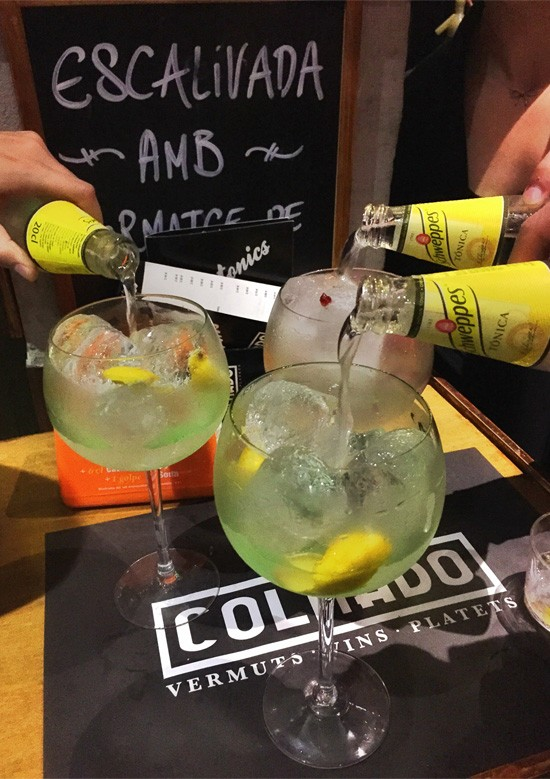 Gin & Tonics at Colmado, Barcelona Spain