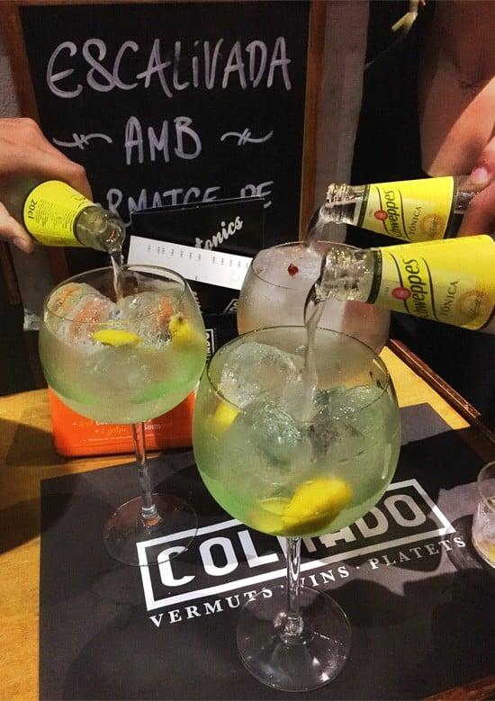 Gin & Tonics at Colmado, Barcelona Spain