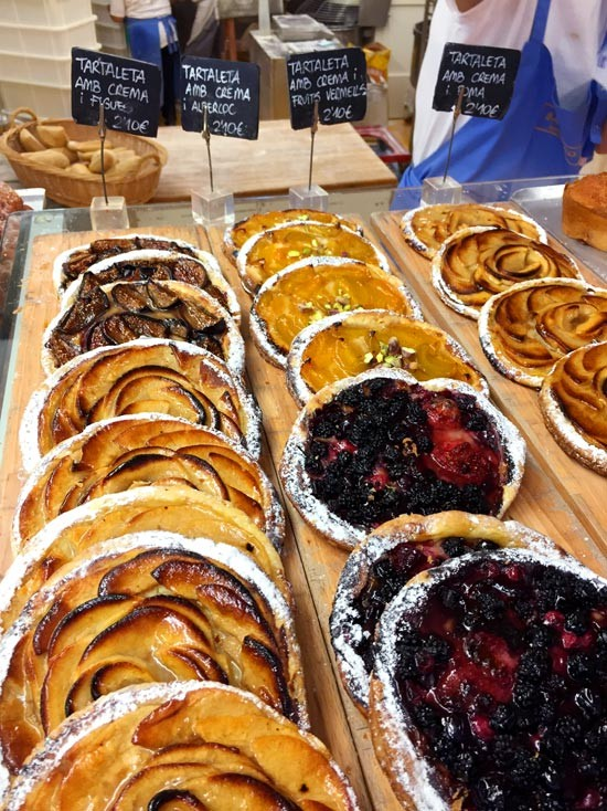 Fruit tarts from Forn Baluard, Barcelona Spain