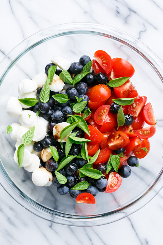 blueberry caprese salad mozzarella healthy