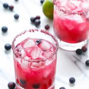 Fresh Blueberry Margaritas