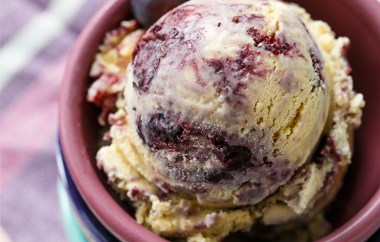 Muscovado Roasted Blueberry Ice Cream