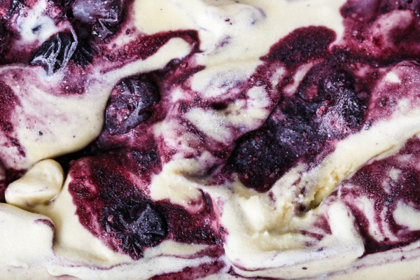 Muscovado Roasted Blueberry Swirl Ice Cream