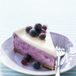 Roasted Blueberry Crème Fraîche Cheesecake Recipe