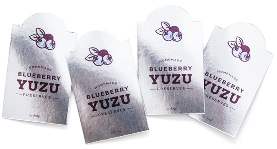 Blueberry Yuzu Preserves Printable Canning Labels
