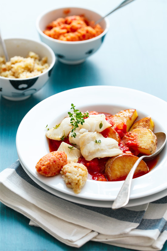Saffron-infused Bouillabaisse with Breadcrumb Rouille | Love and Olive ...