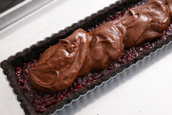 Dark Chocolate & Tart Cherry Tart