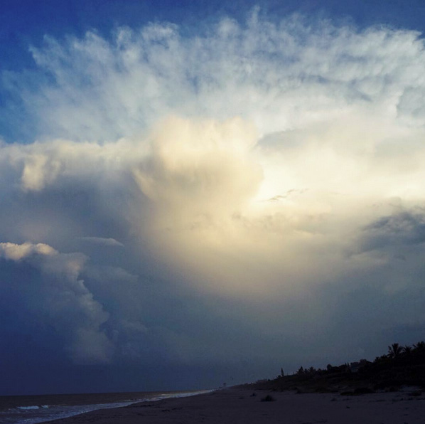Dramatic clouds in Melbourne, Florida