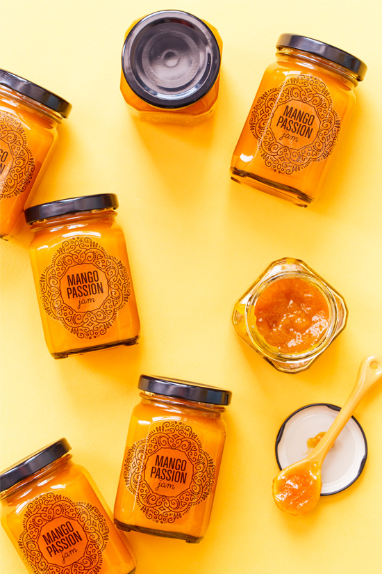 Mango Passion Fruit Jam plus FREE printable canning labels
