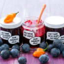 Damson Plum & Habanero Jelly (and FREE printable jam labels!)
