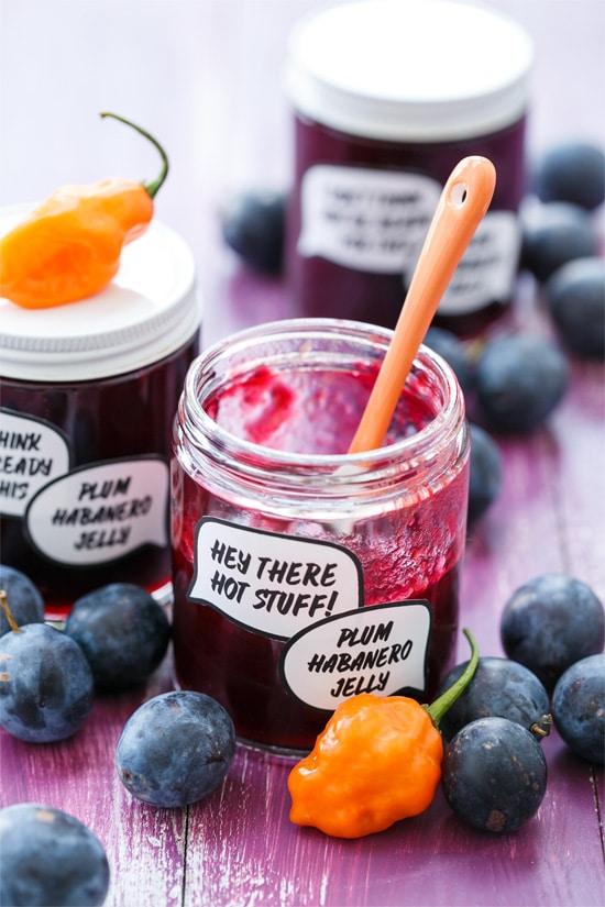 Damson Plum & Habanero Jelly (and FREE printable jam labels!)
