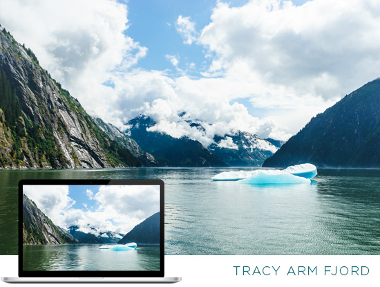FREE Alaska Wallpaper Download: Scenic Cruising in Tracy Arm Fjord